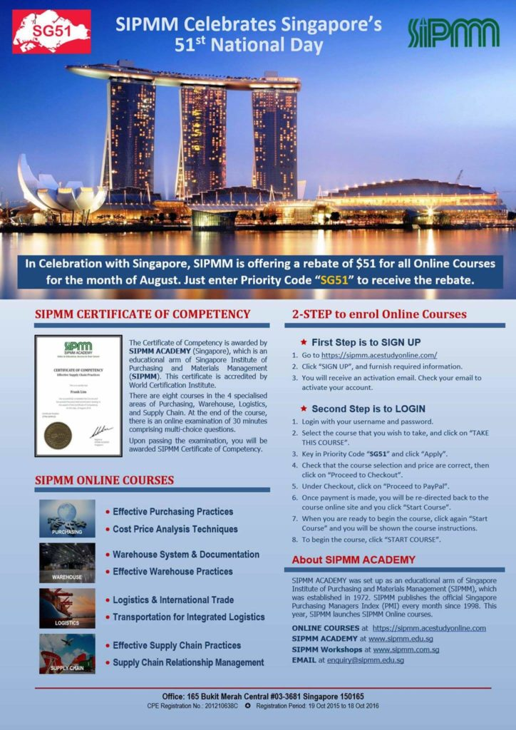 SIPMM ONLINE COURSES SG51