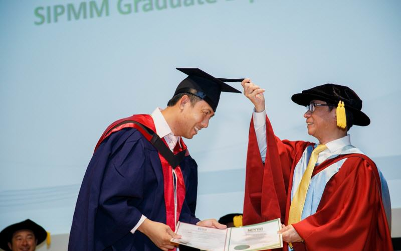 Mr. Adrian Goh receiving his Graduate Diploma in Supply Chain Management - SIPMM