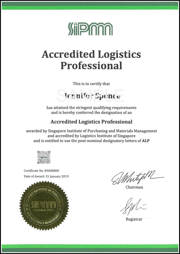 Accredited Logistics Professional - SIPMM