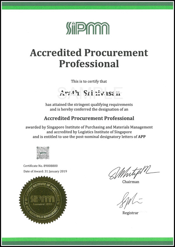Accredited Procurement Professional - SIPMM