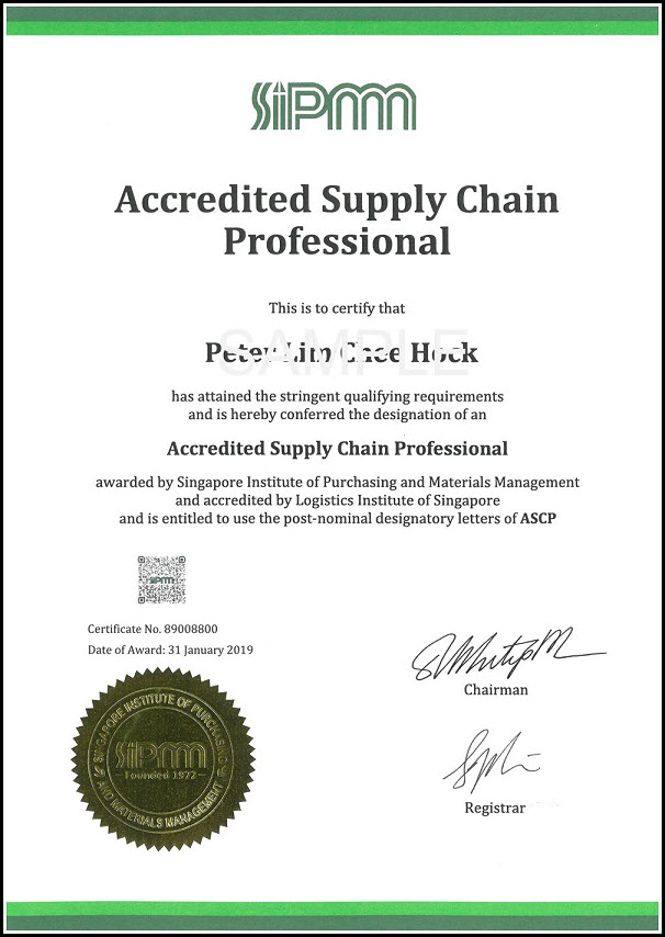 Accredited Supply Chain Professional - SIPMM