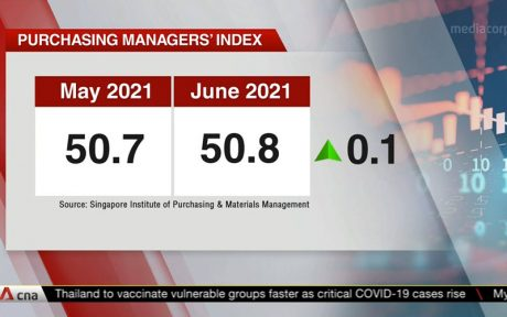Singapore PMI Purchasing Managers' Index June 2021